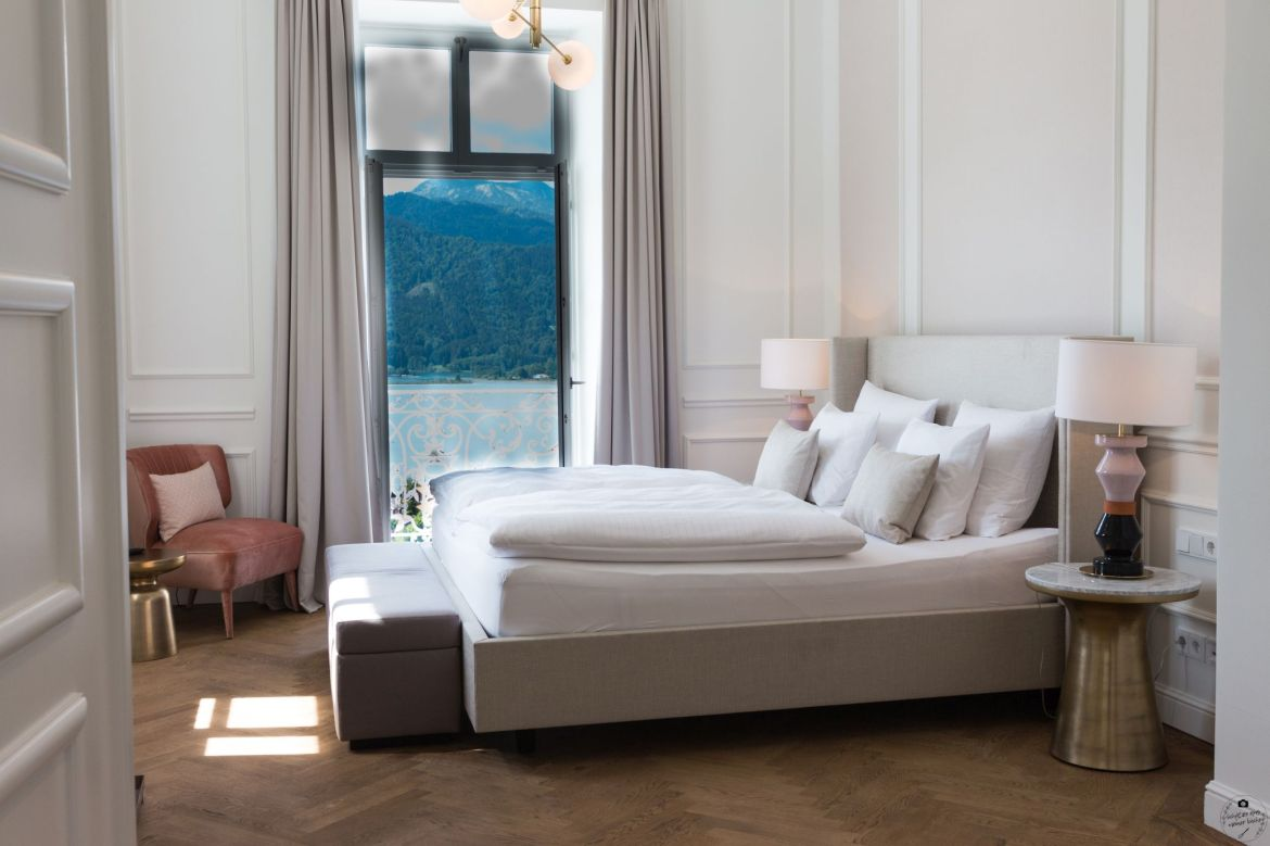DAS TEGERNSEE Deluxe Suite Lady Schlafzimmer