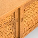 Hans Wegner sideboard in oak and woven cane at Studio Schalling