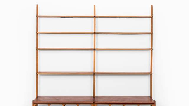 William Watting bookcase in teak and oak at Studio Schalling