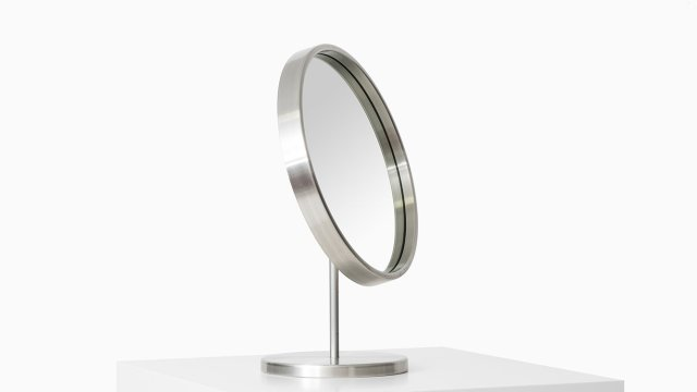 Table mirror in aluminium by Glas mäster at Studio Schalling