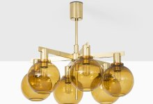 Hans-Agne Jakobsson ceiling lamp model T-348/6 at Studio Schalling