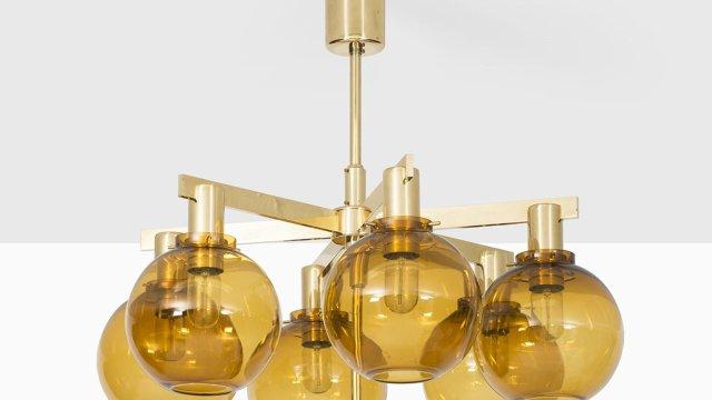 Hans-Agne Jakobsson ceiling lamp model T-348/6 at Studio Schalling