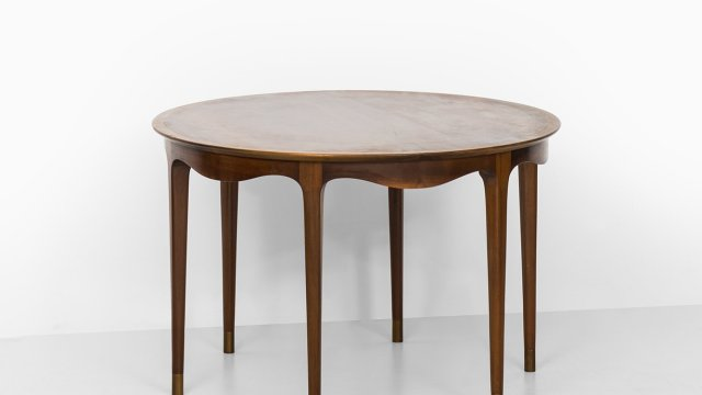 Ole Wanscher side table by A.J. Iversen at Studio Schalling