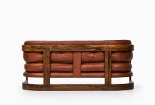 Lennart Bender sofa in rosewood and leather at Studio Schalling