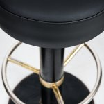 Börje Johansson bar stools in black lacquered metal at Studio Schalling