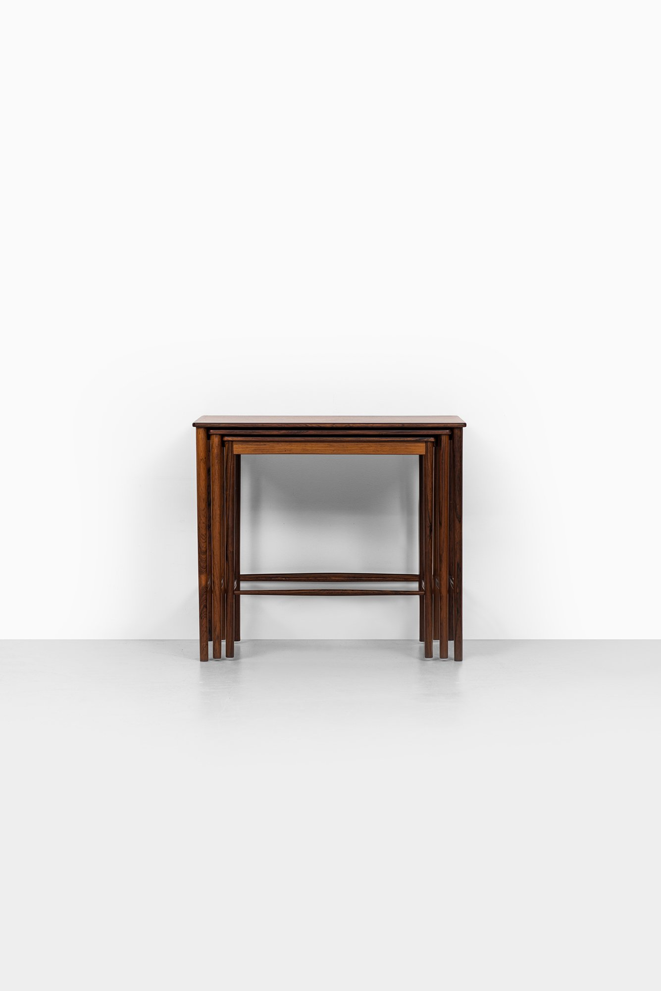 Grete Jalk Nesting Tables In Rosewood At Studio Schalling