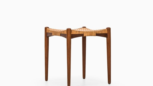 Aksel Bender Madsen & Ejnar Larsen stool in teak at Studio Schalling