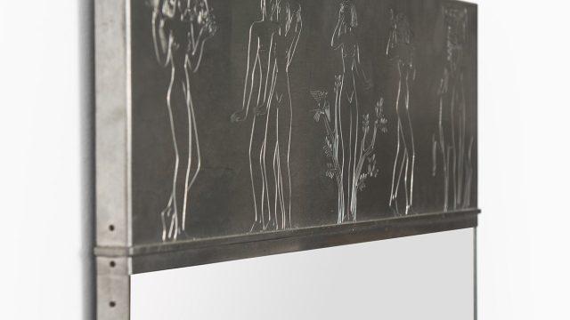 Ulla Fogelklou-Skogh mirror in pewter at Studio Schalling
