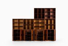 Large bookcase in teak at Studio Schalling