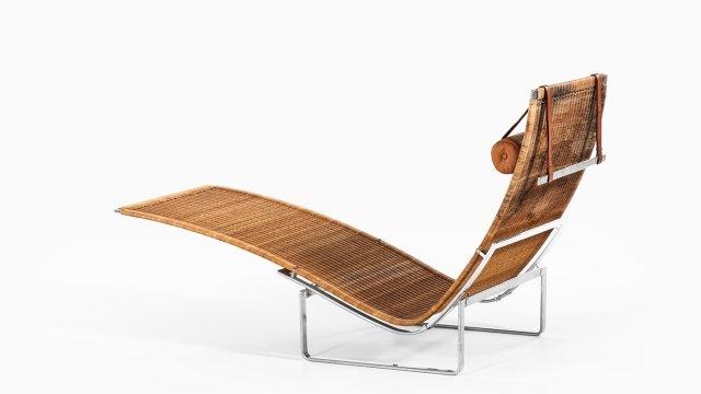 Poul Kjærholm PK-24 lounge chair in rattan at Studio Schalling