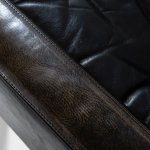 Easy chairs in rosewood and black leather at Studio Schalling