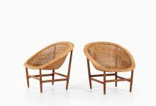 Nanna & Jørgen Ditzel easy chairs in rattan at Studio Schalling