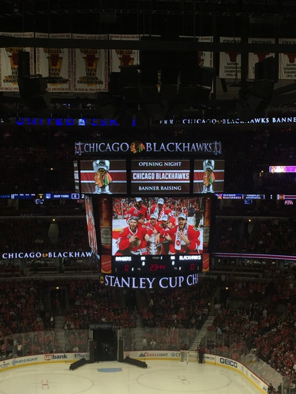 Blackhawks Opening Night Game