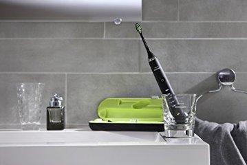 Philips Sonicare HX9352/04 DiamondClean Elektrische Zahnbürste mit Schalltechnologie, Black Edition, schwarz -