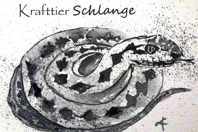 Krafttier Schlange, schamanische Krafttiere. Seelentiere, Totem, Helfertiere