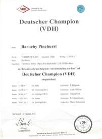Championurkunde Barneby Pinehurst