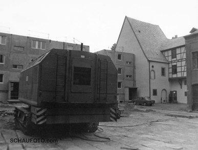 Oktober 1985. Baustelle am Schützhaus. Man beachte das fehlende Komponierstübchen.
