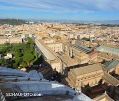 Rückblick auf die Vatikanischen Museen.