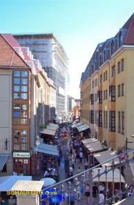 2001 - Münzgasse mit Frauenkirchen-Baustelle