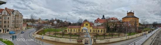 Blick von den Brühlschen Terrassen in Zeitz.