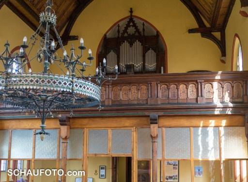 Die kleine Ladegast-Orgel.
