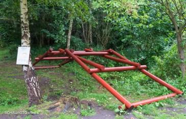 Im Mittelalter-Technologiepark: Selbsttragende Brückenkonstruktion