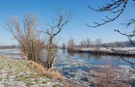 Ein Schöner Wintertag an der Saale.