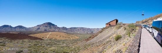 Talstation am Rand der Caldera.