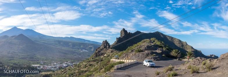 Anfahrt über Santiago del Teide.