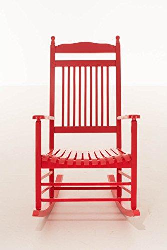 CLP Stillstuhl / Holz-Schaukelstuhl MARISSA, Landhaus Stil, bequem & stilvoll Relaxen rot -