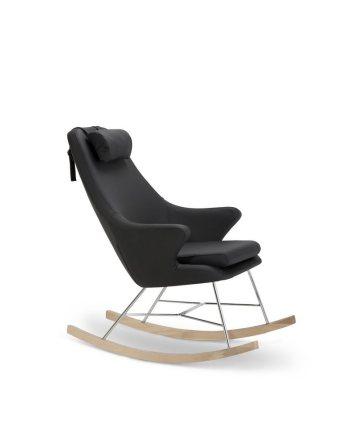 SalesFever Schaukelstuhl Sessel mit Armlehnen und Kunstleder bezogen »Rocho«