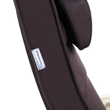 Songmics Schaukelstuhl Relaxstuhl Birkenholz 5-fach verstellbares Fußteil Belastbarkeit 150 kg braun LYY10Z -