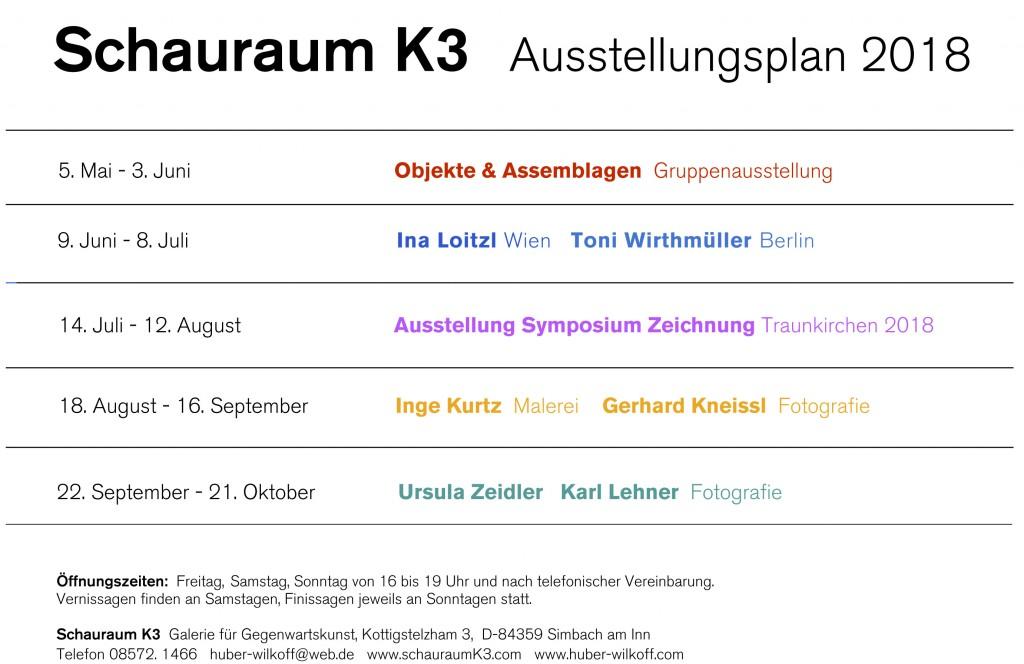 K3 Ausstellungsplan 2018