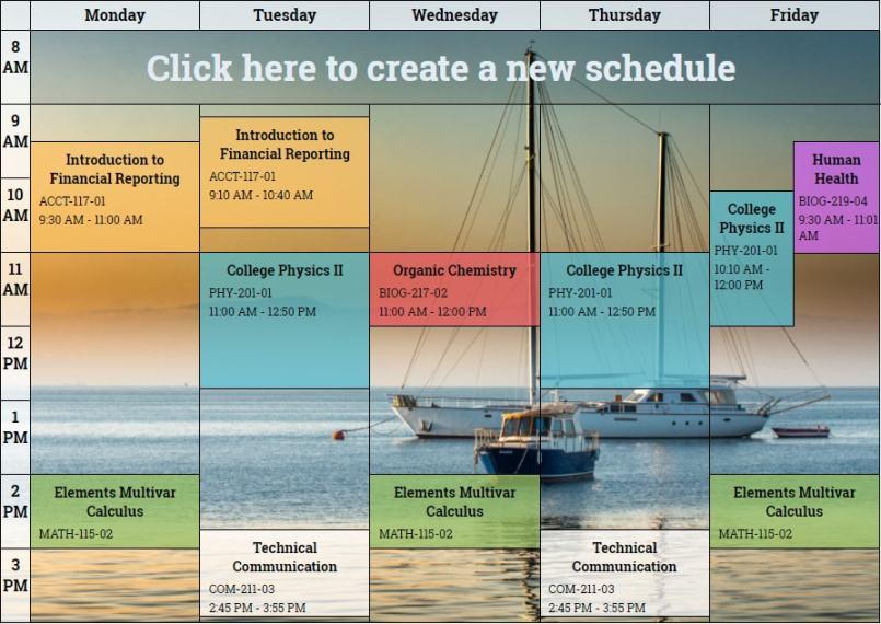 online school schedule maker online daily planner free class