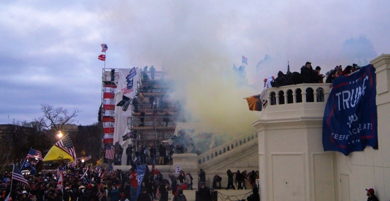 America Condemns One Violent Mob While Celebrating Another Tear_Gas_outside_United_States_Capitol_20210106
