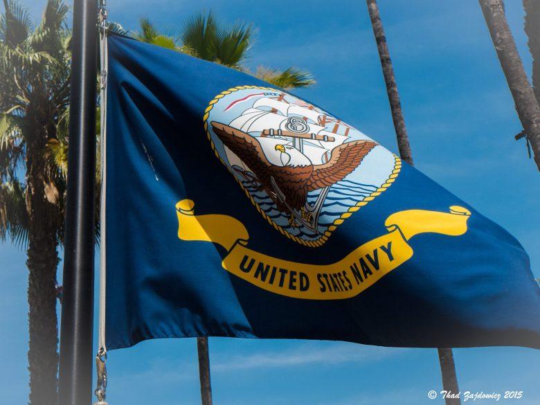 Photo of a U.S. Navy flag.