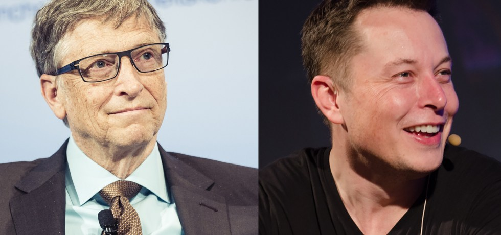 Images of Bill Gates and Elon Musk