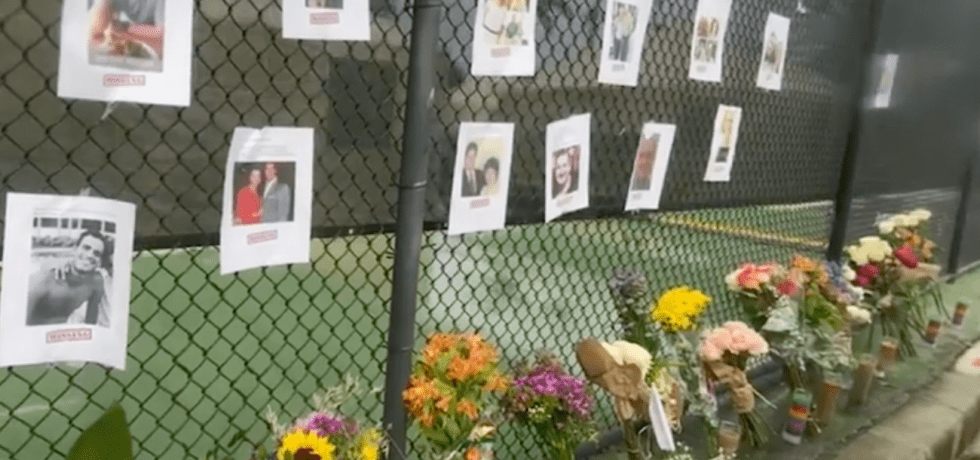 Remembrance wall of victims of Champlain Towers South collapse