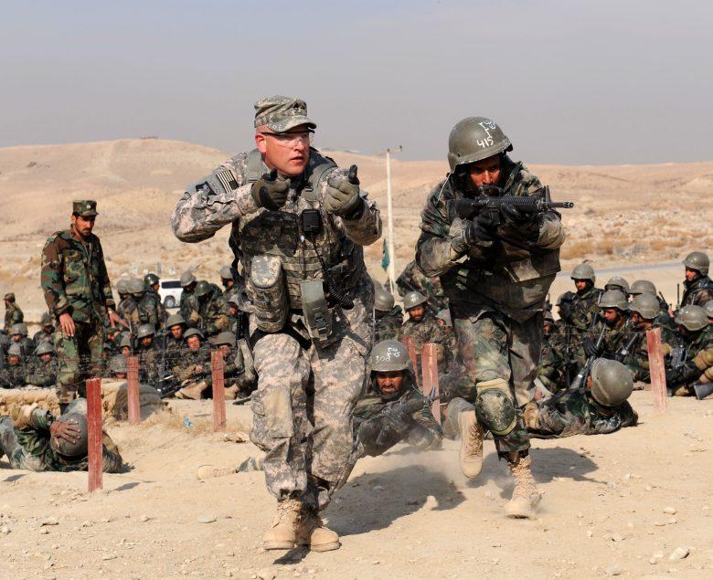 U.S. Army sergeant trains Afghan troops in Kabul, Afghanistan in 2010