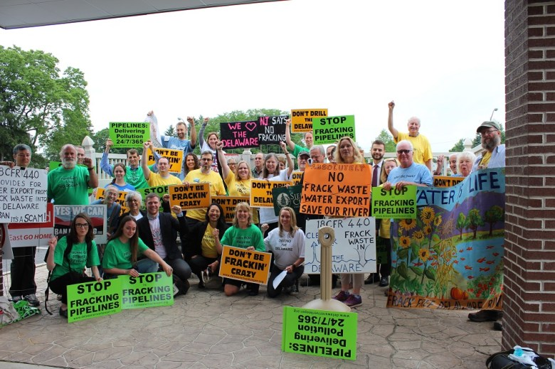 Activists protest against the PennEast pipeline.