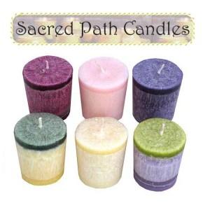 Pagan sacred path candles