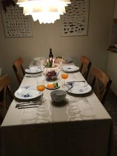 Vores fine lille juleaftensbord