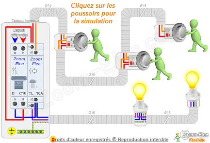 Montage Cablage Branchement D Un Telerupteur Et Boutons Poussoirs Comment Brancher Un Telerupteur