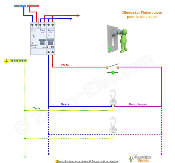 schema branchement interrupteur avec