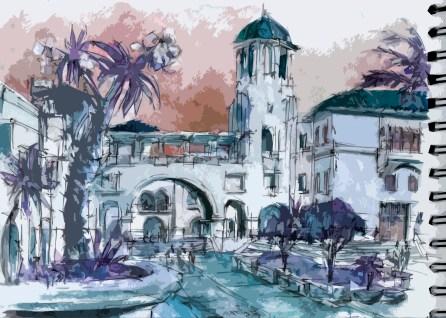 watercolor, kohinor pen, arches sketchbook
