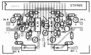 2x30W Audio Amplifier with STK465 top pcb