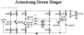 Dan Armstrong Green Ringer Guitar Effect circuit diagram