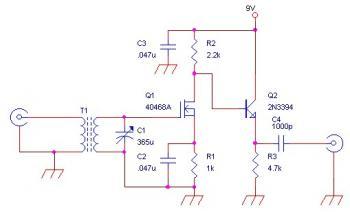 Circuits Am Rf Amplifier Circuit For External Antenna