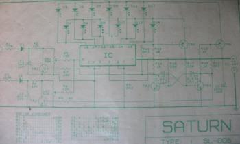 Six LED Stereo VU Display circuit diagram