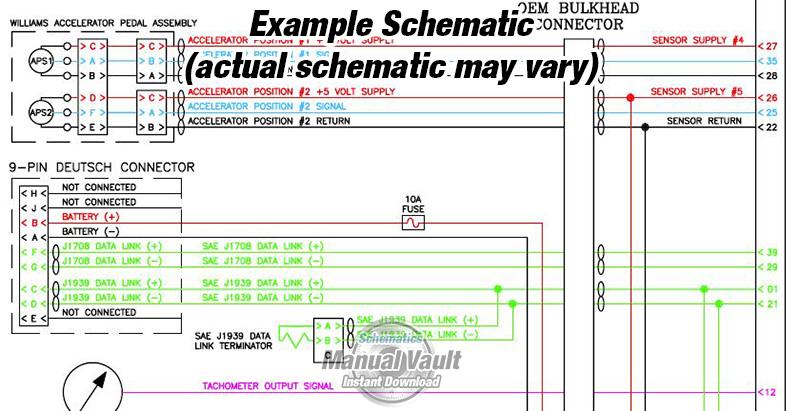 Cummins QSX15 CM570 Engine Wiring Diagram PDF  Schematics